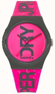 Superdry Womans urban glitter pulseira rosa brilhante e discar SYL189PP