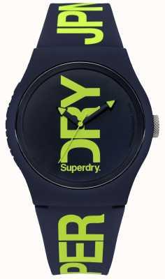 Superdry Silicone da Marinha com impressão de texto verde SYG189UN