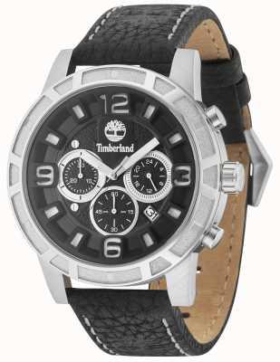 Timberland Maynard pulseira de couro preto multi dial preto 15251JS/02