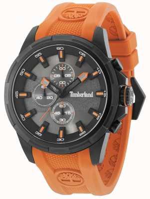 Timberland Boxford laranja silicone pulseira de metal cinza dial 15253JSB/61P