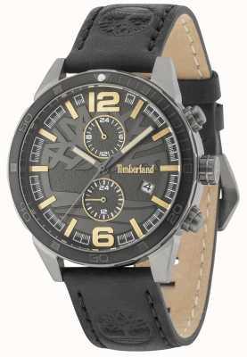 Timberland Sagamore pulseira de couro preto mostrador preto 15256JSUB/61