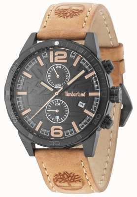 Timberland Sagamore pulseira de couro marrom preto 15256JSB/02