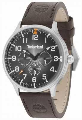 Timberland Blanchard mostrador preto pulseira de couro marrom escuro 15270JS/02