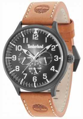 Timberland Pulseira de couro marrom Blanchard mostrador preto 15270JSB/02