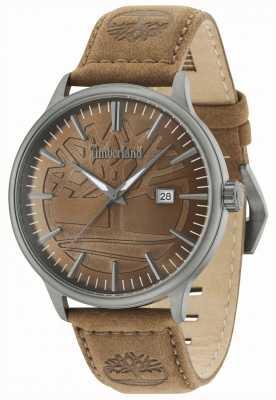 Timberland Edgemont brown dial pulseira de couro marrom 15260JSU/12
