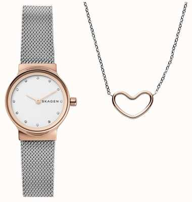 Skagen Womens katrine gift set colar de coração SKW1101