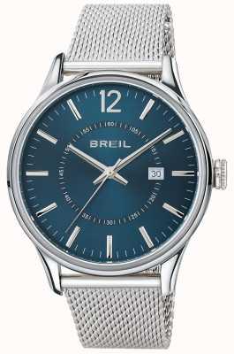 Breil Contempo pulseira de malha de aço inoxidável mostrador azul TW1560