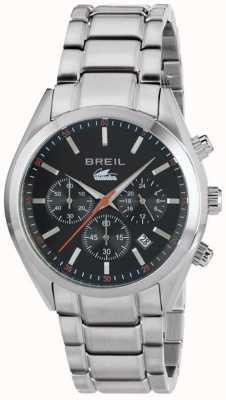 Breil Manta city aço inoxidável cronógrafo pulseira de discagem preta TW1606
