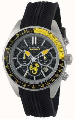 Breil Abarth aço inoxidável ip preto cronógrafo preto e amarelo TW1691