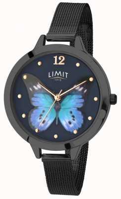 Limit Relógio de borboleta preto pvd jardim secreto das mulheres 6270.73