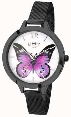 Limit Relógio de borboleta de malha preta de jardim secreto das mulheres 6274.73