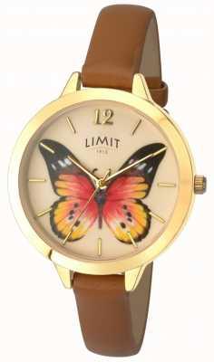 Limit Relógio de couro de borboleta de jardim secreto das mulheres 6275.73