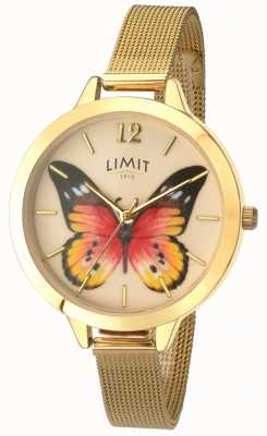 Limit Relógio de borboleta de malha de ouro de jardim secreto das mulheres 6276.73