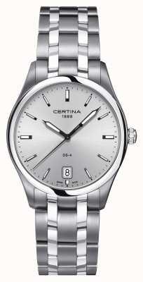Certina Mens ds-4 relógio de aço inoxidável C0224101103100