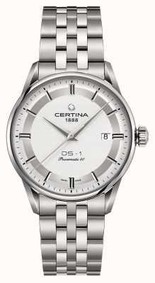Certina Mens ds-1 powermatic 80 relógio automático C0298071103160