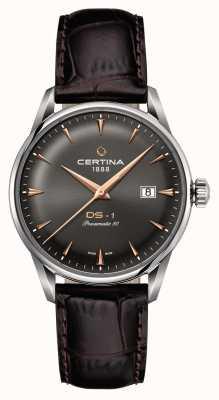 Certina Mens ds-1 powermatic 80 relógio automático C0298071608101