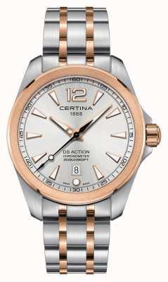 Certina Mens ds relógio cronômetro de ação C0328512203700