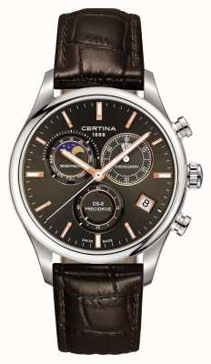 Certina Mens ds-8 precidrive moonphase relógio cronógrafo C0334501608100