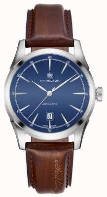 Hamilton Mens espírito de liberdade automático relógio com mostrador azul H42415541
