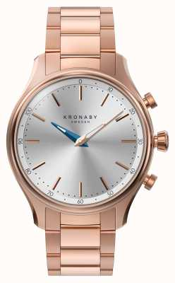 Kronaby 38mm sekel bluetooth rosa ouro pulseira de metal smartwatch A1000-2747