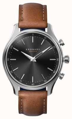 Kronaby Smartwatch de aço correia de couro de bluetooth de 38mm sekel A1000-2749