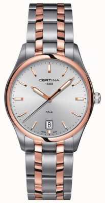 Certina | relógio de quartzo ds-4 para homem | cinta de aço inoxidável | C0224102203100
