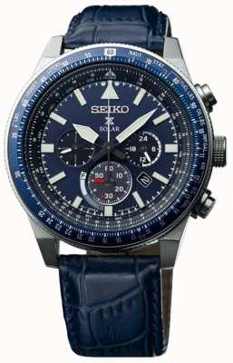 Seiko Mens céu prospex relógio solar azul SSC609P1