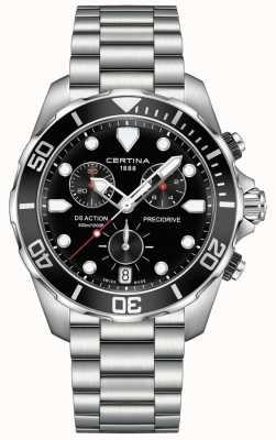 Certina Mens ds cronômetro precidrive ação preto relógio C0324171105100