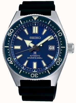 Seiko Prospex mar azul discagem moldura azul parafuso coroa SPB053J1