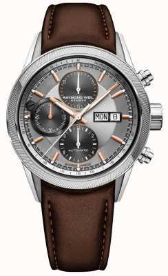 Raymond Weil Mens relógio de cronógrafo automático freelancer 7731-SC2-65655
