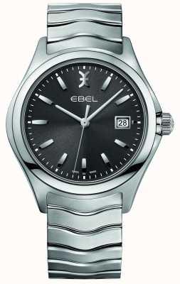 EBEL Mens pulseira de aço inoxidável pulseira de discagem cinza 1216239