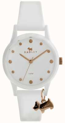 Radley Senhoras branco 33 milímetros caso branco mostrador branco pulseira de silicone RY2638