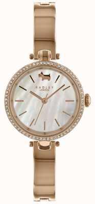 Radley Senhoras 28 milímetros caso mostrador branco meia pulseira RY4326