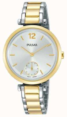 Pulsar Pulseira de prata pulseira de aço inoxidável de dois tons das mulheres PN4064X1