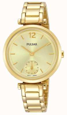 Pulsar Mostrador ouro pulseira em tons de ouro das mulheres PN4068X1