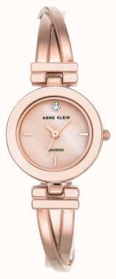 Anne Klein Bracelete de couro para mulher liliana nude silver case AK/N2685PMLP