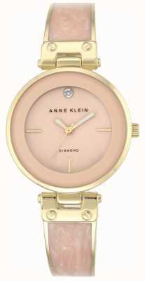 Anne Klein Caso de amanda ouro das mulheres rosa discagem AK/N2512LPGB