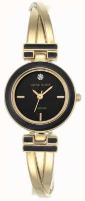 Anne Klein Mostrador preto pulseira melanie tom de ouro das mulheres AK/N2622BKGB