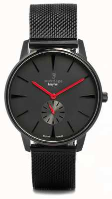 Weird Ape Mayfair toda preta e vermelha malha preta WA02-005615