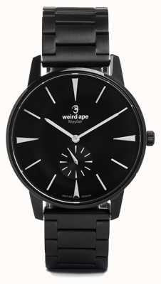 Weird Ape Mayfair preto mostrador branco marcadores preto link pulseira WA02-005622
