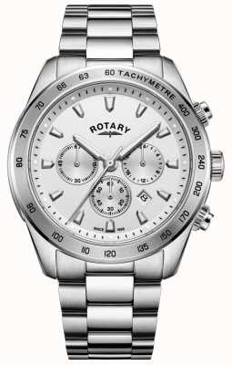 Rotary Gents henley cronógrafo pulseira de aço inoxidável GB05115/06
