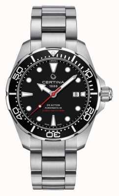 Certina Ds ação mergulhador powermatic 80 relógio automático dos homens C0324071105100