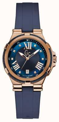 Gc Womens structura cable sport pulseira de silicone azul Y34001L7