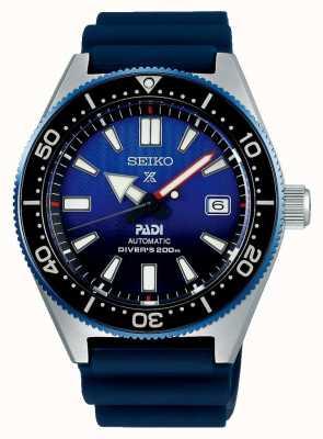 Seiko Prospex padi recreação azul mostrador azul pulseira de resina SPB071J1