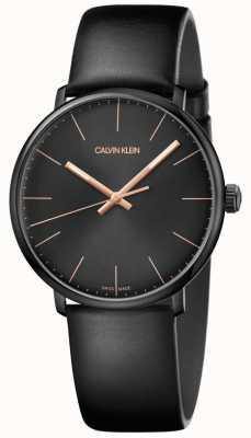 Calvin Klein Relógio do meio-dia dos homens minimalista K8M214CB