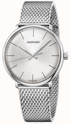 Calvin Klein Mens relógio de malha de aço inoxidável de meio-dia K8M21126