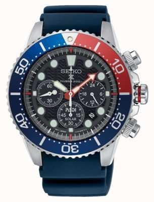Seiko Homens padi prospex solar powered cronógrafo relógio pulseira azul SSC663P1