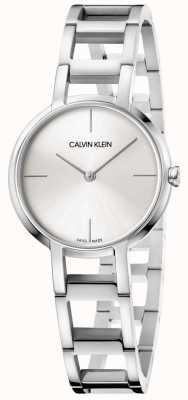 Calvin Klein Senhoras elogios relógio de aço inoxidável de prata K8N23146