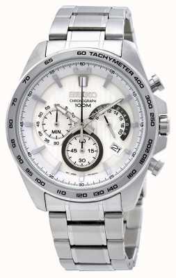 Seiko Relógio de cronógrafo de aço inoxidável para homem SSB297P1