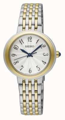 Seiko Senhoras dois tons de prata e pulseira de ouro SRZ506P1